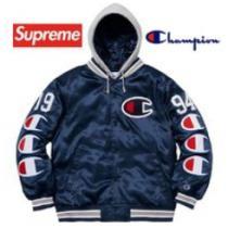 Supreme Champion Hooded Satin Varsity Jacket AW 18 WEEK 7着こなしおすすめジャケット シュプリーム 激安 エレガント男女兼用-1
