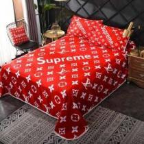 モノグラムプリント寝具セットSupreme × Louis Vuitton - Box Logo人気 ブランド シュプリーム コピー 掛け布団 エレガント 枕-1