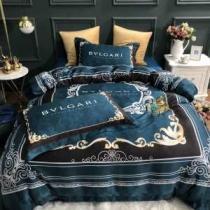 北欧風おしゃれ 布団カバーBVLGARIコピー ブルガリ 寝具4点セット おすすめ 綿100% シングル 安い 寝心地 ベット用-1