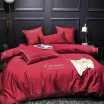 2019 AW高品質優しいイメージに CARTIER カルティエ コピー ブランド 寝具 人気ランキング おすすめ 布団カバーセット 結婚式 赤-1