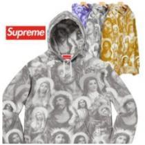 トレンド人気おすすめSupreme Jesus and Mary Hooded Sweatshirt スウェットシャツシュプリームコピースタイリッシュパーカー-1