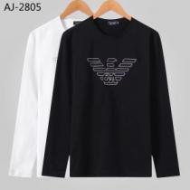 【2019秋冬】今きてる最先端ブランド 今年の流行りファション アルマーニ ARMANI 長袖Tシャツ 2色可選-1