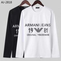 長袖Tシャツ 2色可選 2019秋に注目したい 最新秋冬トレンドをチェック アルマーニ ARMANI-1