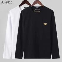 アルマーニ ARMANI 長袖Tシャツ 2色可選 今年らしい新しい人気色 2019トレンド秋冬おすすめ安い-1