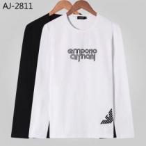 アルマーニ ARMANI 長袖Tシャツ 2色可選 今年らしい新しい人気色 2019秋のファッショントレンドはこれ-1