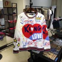 愛用者が多い定番スウェットシャツKINGプリント パーカーDolce&Gabbanaコピー安いドルガバ 通販 最も着こなし限定新作-1