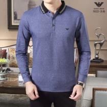 Armani通販アルマーニステッチによるイーグル付きパッチスウェットシャツ19-20AWのトレンド人気新品メンズポロシャツ長袖新作-1