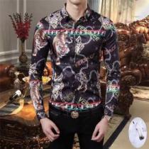ヴェルサーチ シャツ メンズ 個性的で華奢な印象に 2019限定 VERSACE コピー 黒白2色 プリント ブランド おすすめ セール-1