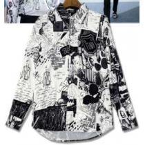 品質保証100%新品 フェンディ コピー特別なプリント トレンド感満載 FENDI 長袖シャツ偽物 街行く人の目線をひとり占め-1