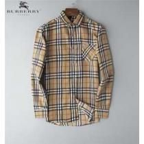 バーバリー メンズ シャツ 印象深い大人の雰囲気に Burberry Small Scale Check Stretch Cotton Shirt コピー 2色可選 日常 安価-1