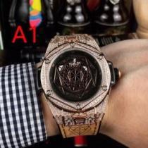 ウブロ 時計 新作 おすすめ ワンクリック サンブルー キングゴールド パヴェ39 mm人気モデルHUBLOT 2020限定価格-1