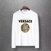 2020秋冬定番コーデ スッキリとしたおしゃれ感が魅力 ヴェルサーチ VERSACE 長袖Tシャツ 4色可選-1