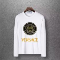 洗練されたチェックコーデに 4色可選 ヴェルサーチ VERSACE 長袖Tシャツ 2020秋冬憧れスタイル-1