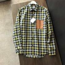 2020秋冬トレンドロエベ 服 サイズ メンズ シャツ コピー 販売 LOEWE 最新のコレクションバックルチェック柄シャツコーデ-1