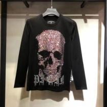 長袖Tシャツ メンズ フィリッププレイン モダンなイメージが魅力 服 ブランド コピー PHILIPP PLEIN ロゴ 黒 おすすめ 最低価格-1