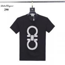 上品なコーデが完成 Tシャツ ブランド スーパーコピー サルヴァトーレフェラガモ Salvatore Ferragamo メンズ 3色 デイリー 安い-1