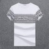 サルヴァトーレフェラガモ Tシャツ プリント コピー メンズ 気品あるセンスいい Salvatore Ferragamo 3色 おすすめ VIP価格-1