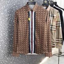 未入荷BURBERRY モノグラムストライププリント コットンシャツ バーバリー スーパーコピー通販2020年トレンド一級品-1