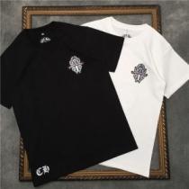 2色可選 おしゃれなコーデを楽しむ  半袖Tシャツ クロムハーツ CHROME HEARTS カジュアルにもナチュラルにも楽しむ-1