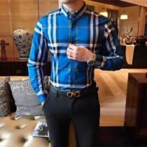 高級感漂うBURBERRY 2020人気トレンド チェックシャツ バーバリー コピーチェック ストレッチコットンポプリン シャツ 評判-1
