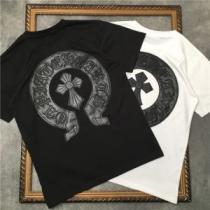 2色可選 シンプルコーデを今年らしくアップ 半袖Tシャツ 着回し力抜群 クロムハーツ CHROME HEARTS-1