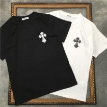 CHROME HEARTS 2色可選 かろやかなデザインを楽しめる 半袖Tシャツ クロムハーツ  最旬!大人っぽいコーデ-1