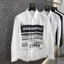 D SQUARED2 シャツ 新作 品よく着こなせる限定品 メンズ ディースクエアード コピー ホワイト カジュアル ロゴ入り 激安-1