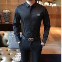 大人遊び心たっぷり エルメス シャツ メンズ HERMES スーパーコピー 3色可選 ストリート ロゴ 通勤通学 日常 セール-1