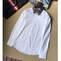 2020最新入荷FENDIコピー ホワイト コットン ビジネスシャツ サイズ 着こなしフェンデイ 新作FS0751A4S6F0QA0-1