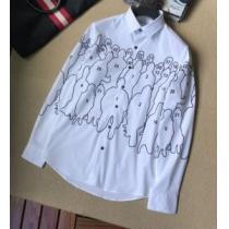 Louis Vuitton シャツ コピー 華奢なデザインで大人気 メンズ ルイ ヴィトン 通販 ホワイト プリント おしゃれ 日常 品質保証-1