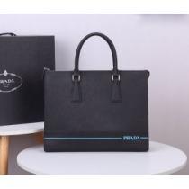 PRADA ビジネスバッグ 人気 トレンド感を増す限定新作 メンズ プラダ バッグ コピー ブラック ストリート 品質保証-1