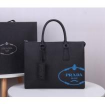 プラダ ビジネスバッグ メンズ 高級的なコーデを演出 PRADA スーパーコピー ストリート オフィス ブラック 最高品質-1