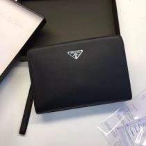 SAFFIANO LUX サフィアーノルクス クラッチバッグ 高級感もシックさも両立 PRADA プラダ メンズ ブラック コピー 限定セール-1