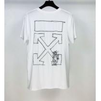 半袖Tシャツ 2色可選 最もオススメ Off-White 人気が継続中 オフホワイト  海外でも大人気-1