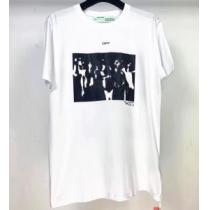 Off-White 通勤通学どちらでも使え オフホワイト 2色可選 限定アイテムが登場 半袖Tシャツ-1