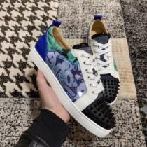 ルブタン 靴 店舗 コピー スニーカー Christian Louboutin 2020春夏おしゃれ スタッズエレガントカジュアルシューズ-1