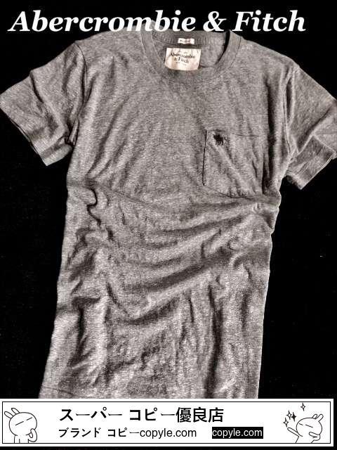 【Abercrombie&Fitch スーパーコピー】Vintage 胸ポケット付き Tシャツ XL/Gray-3