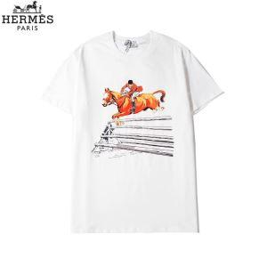 半袖Tシャツ 3色可選 20新作です エルメスストリート系に大人気  HERMES  デザインお洒落-3