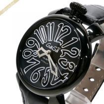 Gaga Milano スーパー コピー ガガミラノ スーパーコピー 腕時計 マヌアーレ ブラックPVD MANUALE 40mm ブラック gaga 6q8vgIUG-1
