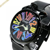 Gaga Milano スーパー コピー ガガミラノ  腕時計 マヌアーレスリム MANUALE SLIM 46mm ブラック gaga nZ0BP3jF-1