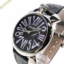 Gaga Milano スーパー コピー ガガミラノ コピー 腕時計 マヌアーレスリム MANUALE SLIM 46mm ブラック×パープル gaga Pga9EEJX-1