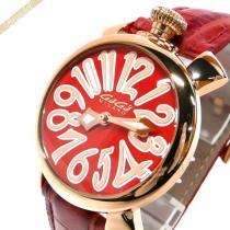 Gaga Milano スーパー コピー ガガミラノ スーパー コピー 腕時計 マヌアーレ MANUALE 40mm レッド×ゴールド gaga gPnh9jiK-1