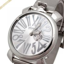 Gaga Milano コピー ガガミラノ スーパーコピー 腕時計 マヌアーレスリム MANUALE SLIM 46mm シルバー gaga H6E5Xwsu-1