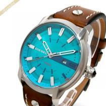 DIESEL スーパー コピー ディーゼル  メンズ腕時計 アームバー ArmBar 45mm ブルーグリーン×ブラウン DIESEL 8d6if4Md-1