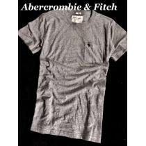 【Abercrombie&Fitch スーパーコピー】Vintage 胸ポケット付き Tシャツ XL/Gray-1