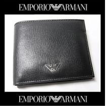 スーパー コピー EMPORIO ARMANI YEM122 二つ折り財布 ブラックXシルバー 41040円 新品-1