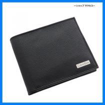 新品 即買い■カルバンクライン コピー二つ折り財布 79215-BK ブラック-1
