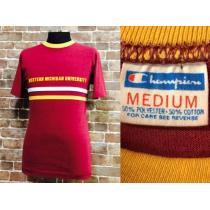 表記M/タイト!70'sビンテージ チャンピオン コピー カレッジ Tシャツ USA製 古着 トリコ-1