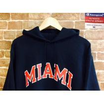 表記M!チャンピオン スーパーコピー マイアミ大学 カレッジ パーカー USA古着 アメカジ ビンテージ-1