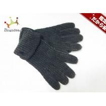 ポロラルフローレン スーパー コピー 手袋 メンズ美品  ダークグレー×黒 ウール×レザー-1